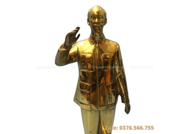 tượng bác hồ bằng đồng vàng catut