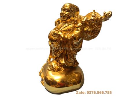 tượng Phật Di Lặc bằng đồng hoàn thiện