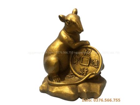 Tượng chuột phong thủy bằng đồng