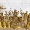 Bộ ngũ sự thờ cúng bằng đồng vàng sang trọng