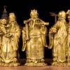 Bộ tượng Tam đa Phúc Lộc Thọ bằng đồng