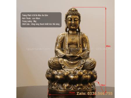 Tượng Phật A Di Đà bằng đồng vàng