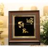 Tranh chữ bằng đồng mạ vàng