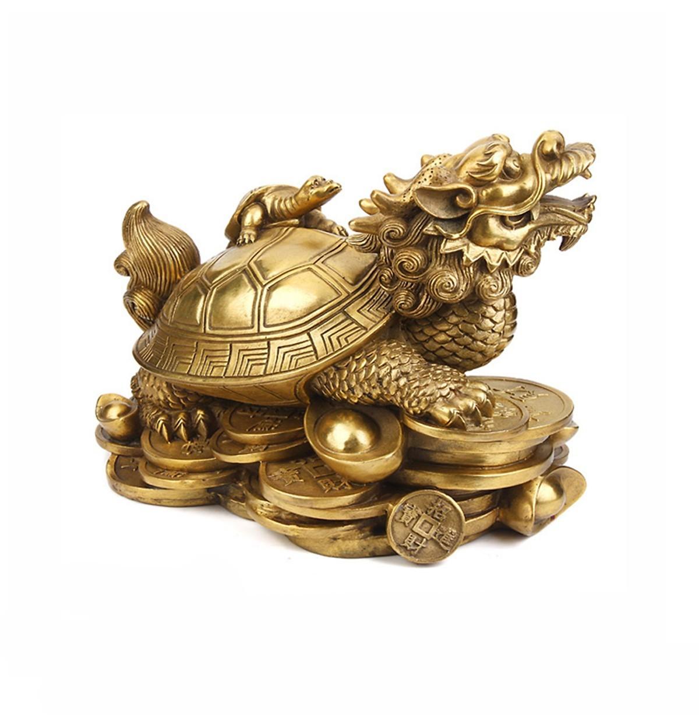 Linh vật trấn trạch Rùa đầu rồng bằng đồng