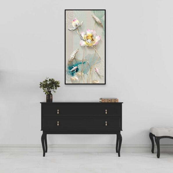 ý nghĩa của tranh hoa cá chep trong phong thuỷ